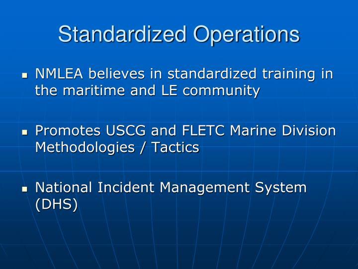Standardized Operations