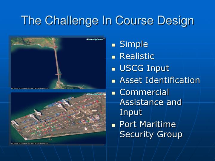 The Challenge In Course Design