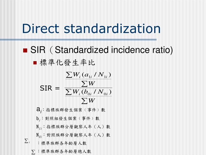 Direct standardization