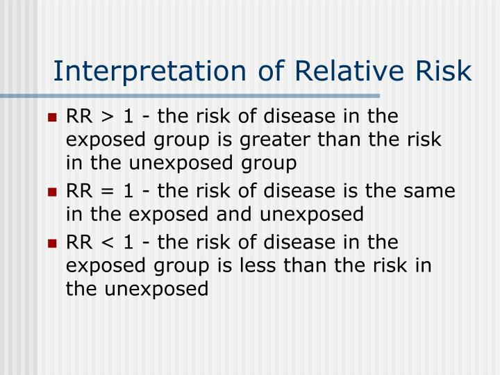 Interpretation of Relative Risk