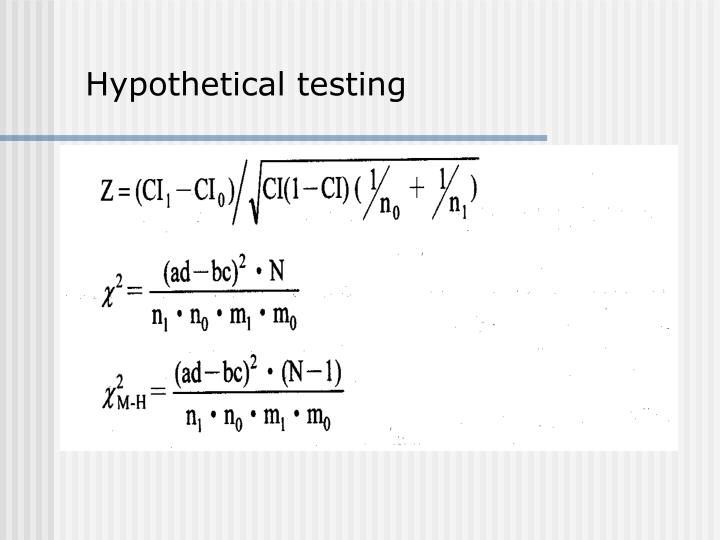 Hypothetical testing