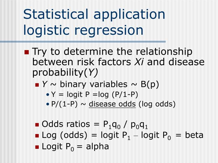 Statistical application