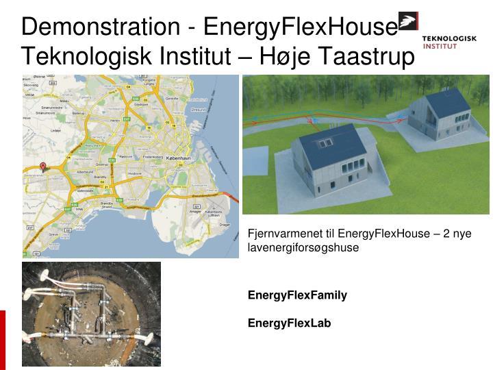 Demonstration - EnergyFlexHouse