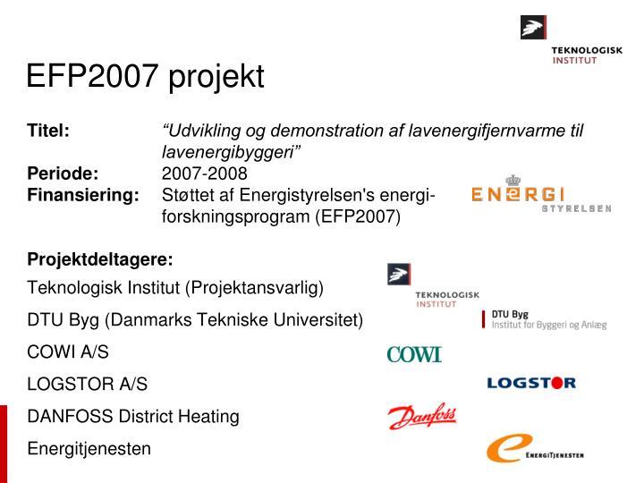 EFP2007 projekt