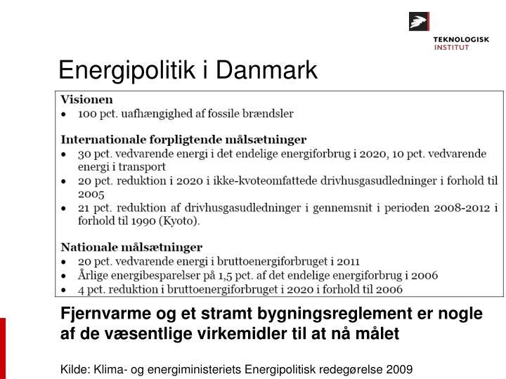 Energipolitik i Danmark