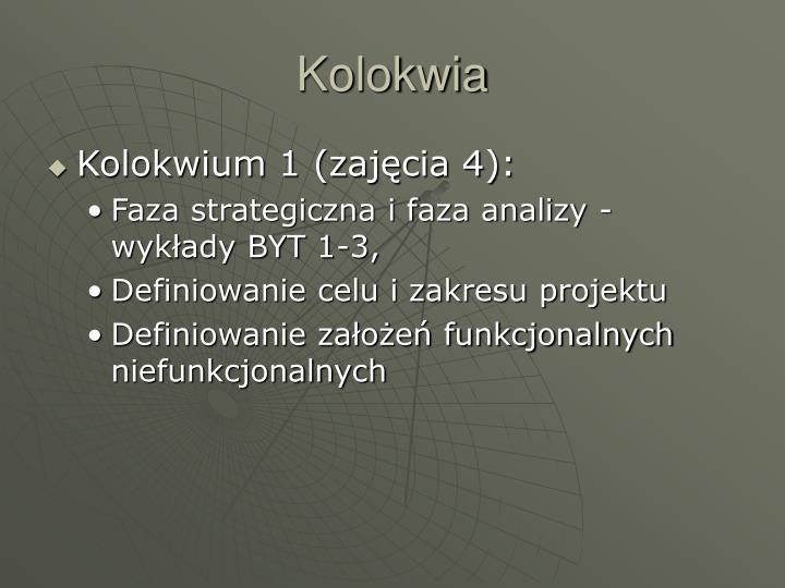 Kolokwia