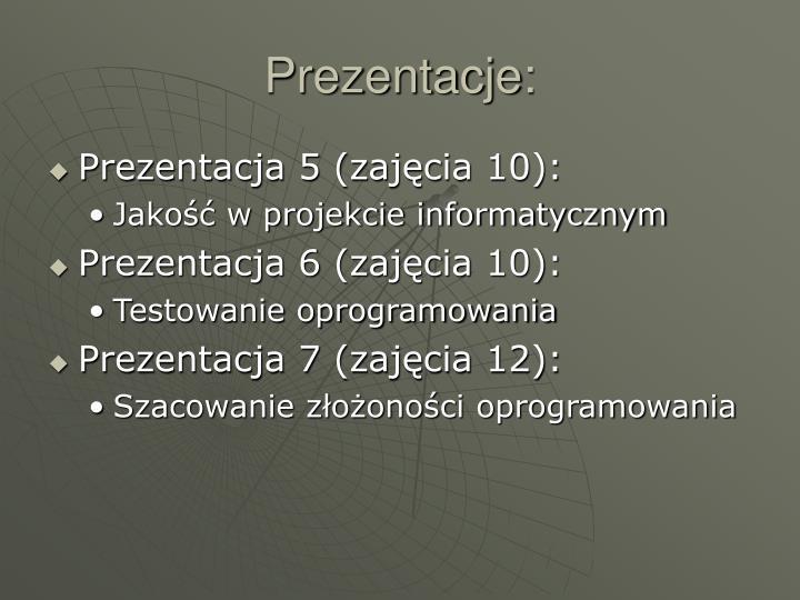 Prezentacje: