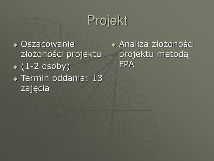 Oszacowanie złożoności projektu