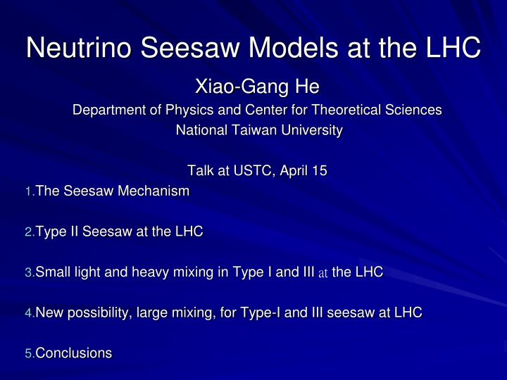 Neutrino seesaw models at the lhc