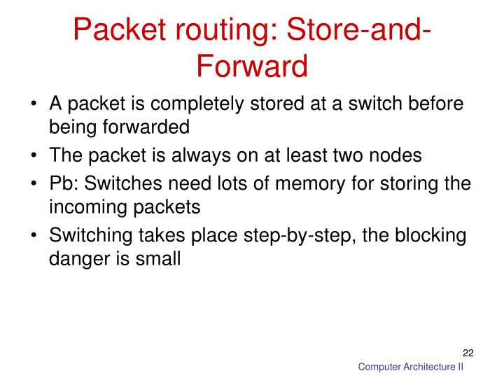 Packet routing: Store-and-Forward
