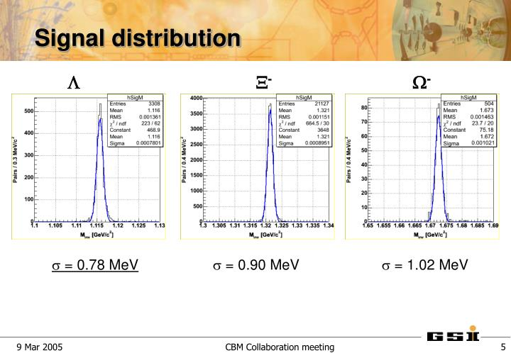 Signal distribution