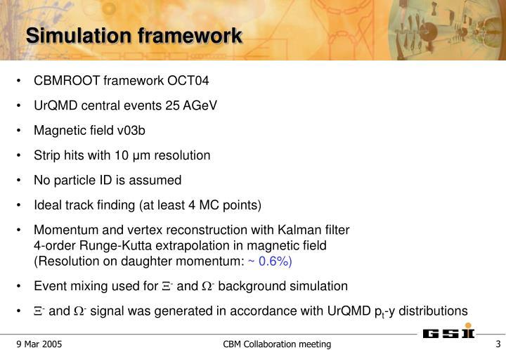 CBMROOT framework OCT04