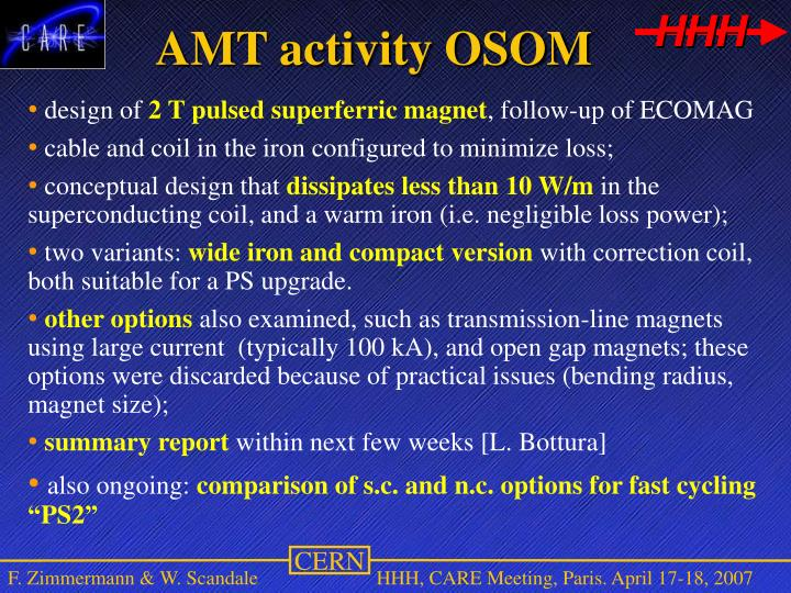 AMT activity OSOM
