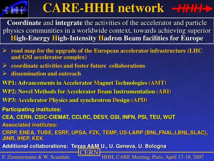 CARE-HHH network