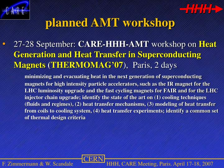 planned AMT workshop
