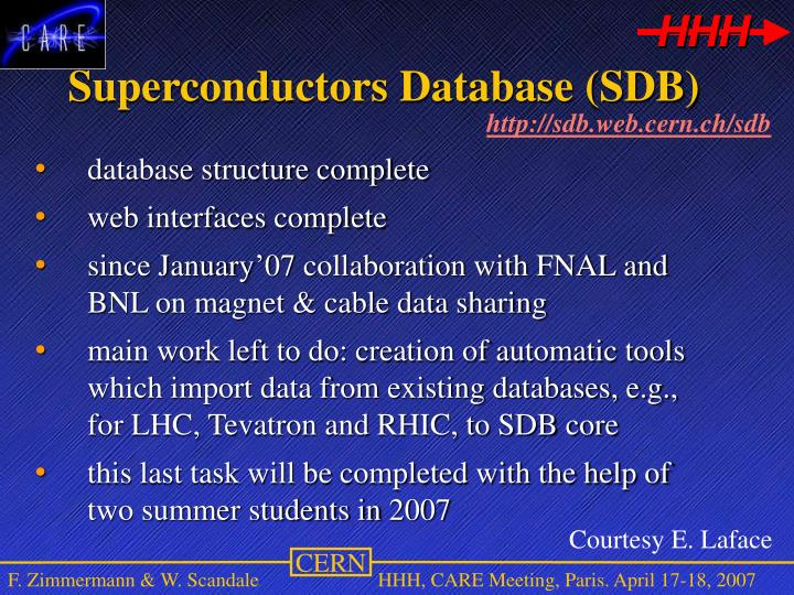 Superconductors Database (SDB)