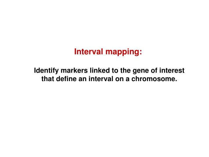 Interval mapping: