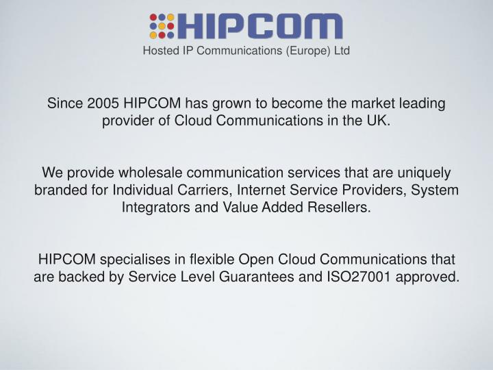 Hosted IP Communications (Europe) Ltd