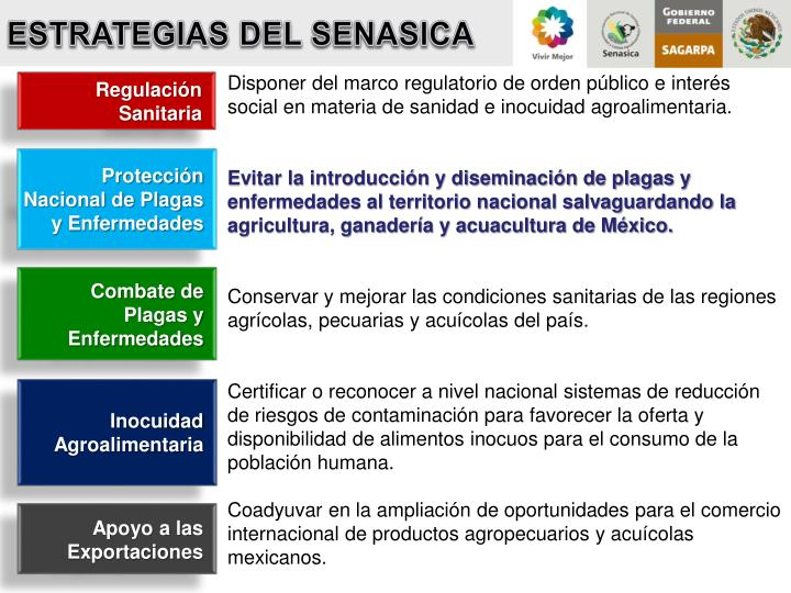 ESTRATEGIAS DEL SENASICA