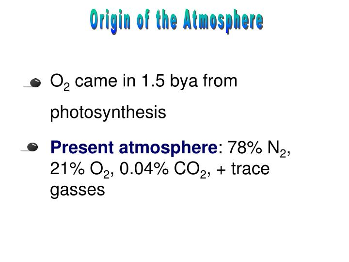 Origin of the Atmosphere