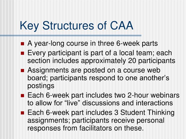 Key Structures of CAA
