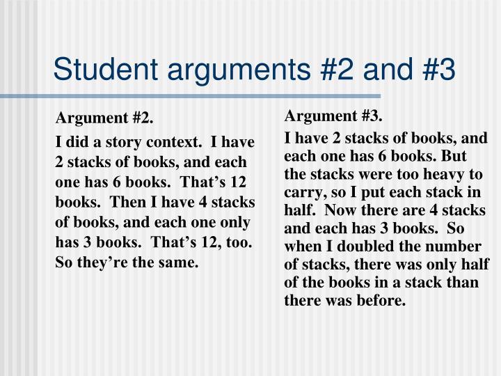 Argument #2.