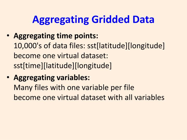 Aggregating Gridded Data