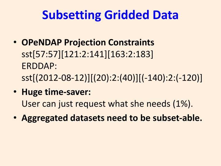 Subsetting Gridded Data