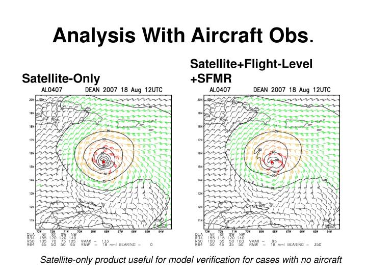 Analysis With Aircraft Obs