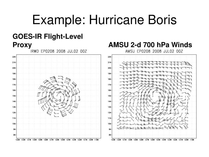 Example: Hurricane Boris