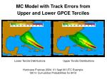mc model with track errors from upper and lower gpce terciles