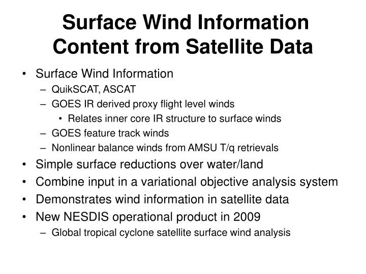 Surface Wind Information