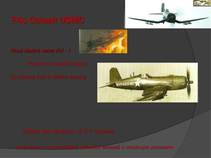 F4u Corsair USMC