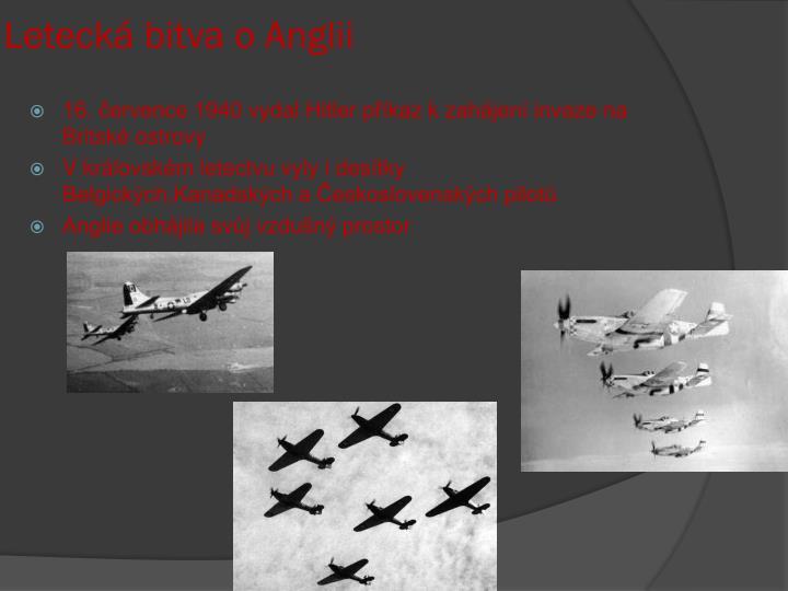 Letecká bitva o Anglii