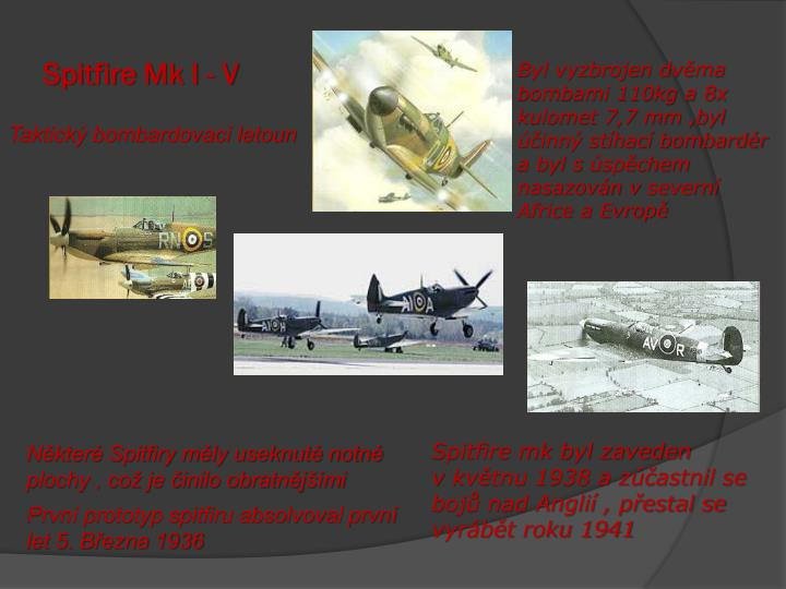 Spitfire Mk I - V