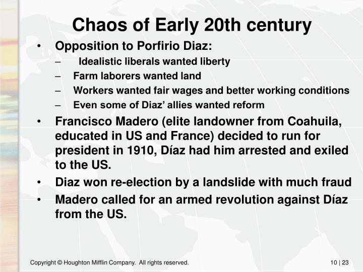 Chaos of Early 20th century