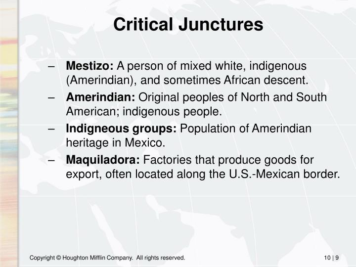 Critical Junctures