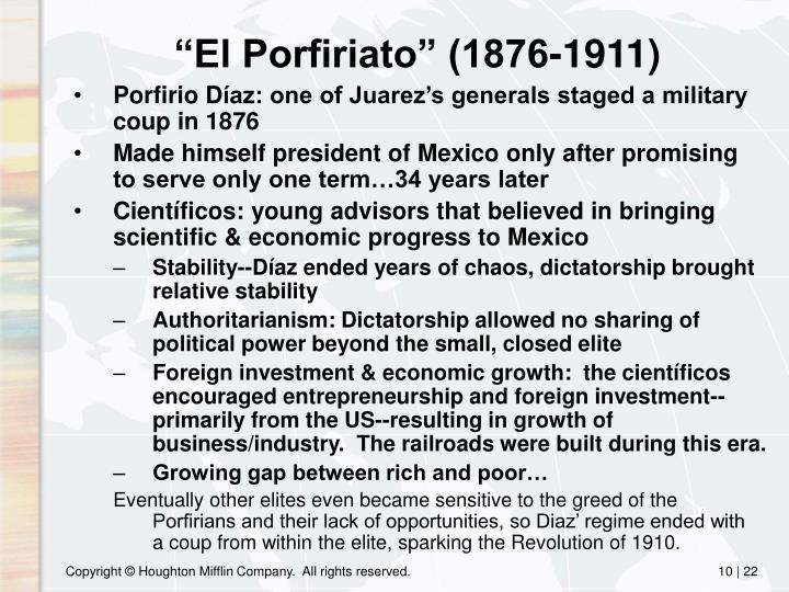"""""""El Porfiriato"""" (1876-1911)"""