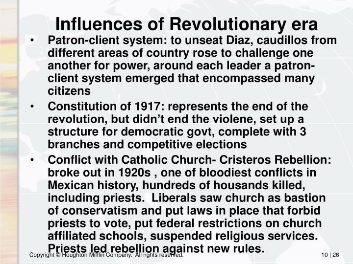 Influences of Revolutionary era
