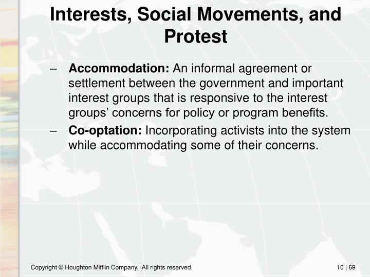 Interests, Social Movements, and Protest