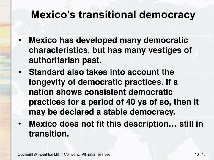 Mexico's transitional democracy