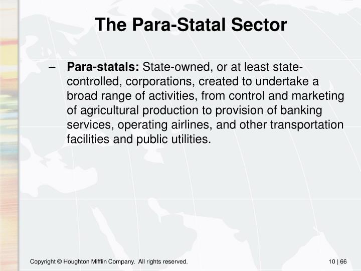The Para-Statal Sector