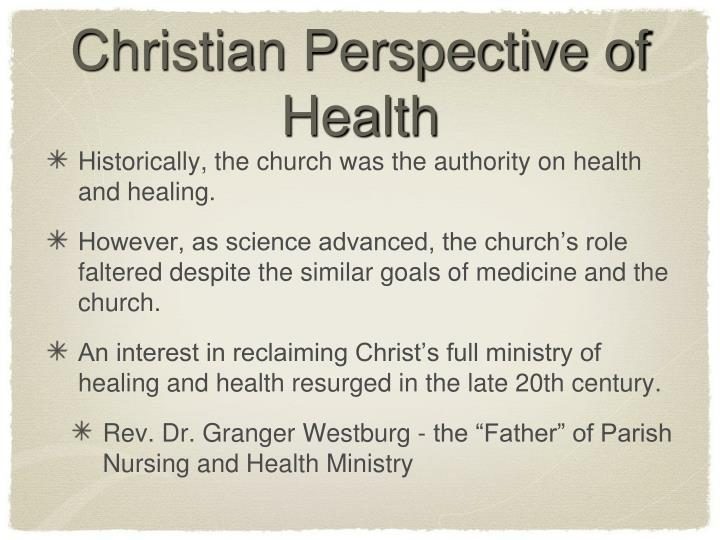 Christian Perspective of Health