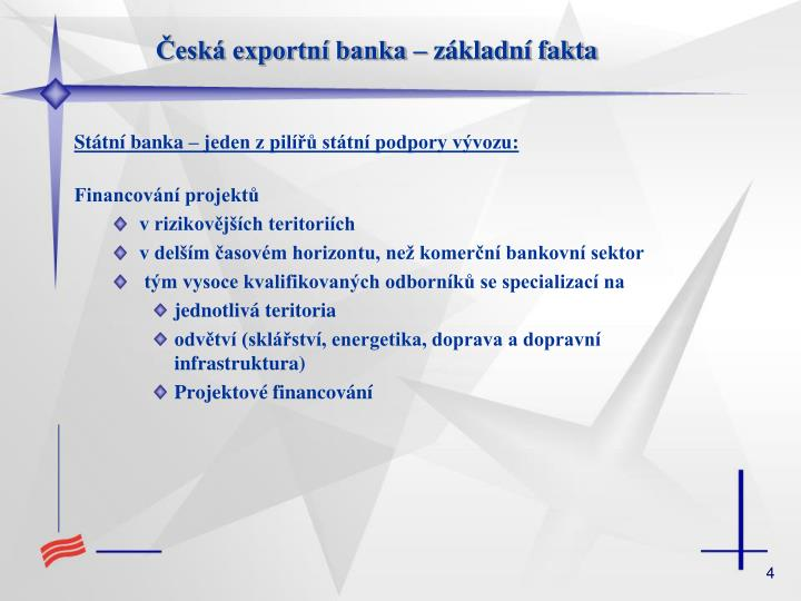 Česká exportní banka – základní fakta