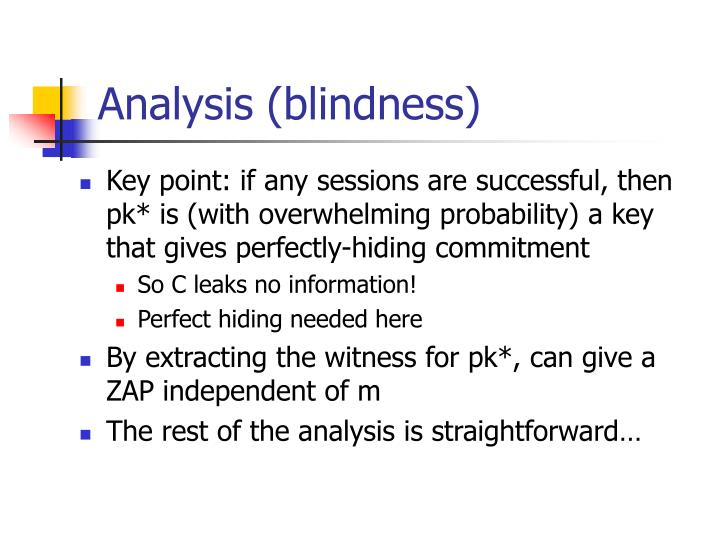 Analysis (blindness)