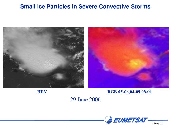 Small Ice Particles in Severe Convective Storms