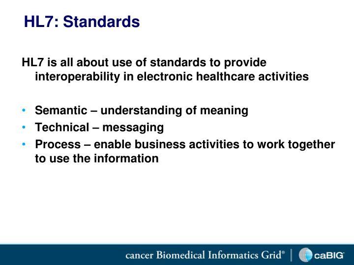 HL7: Standards