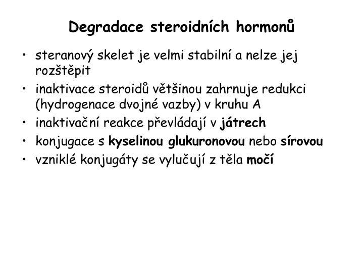 Degradace steroidních hormonů