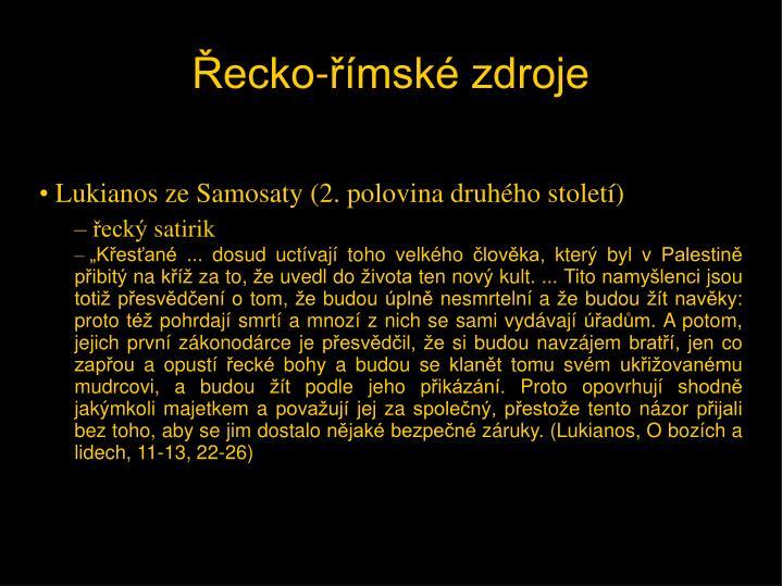 Lukianos ze Samosaty (2. polovina druhého století)