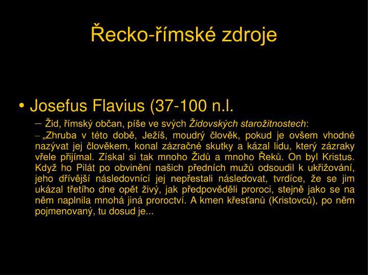 Josefus Flavius (37-100 n.l.